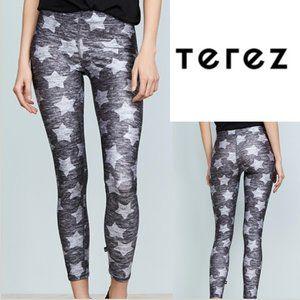 TEREZ- NWT Heathered Stars Tall Band Leggings - M